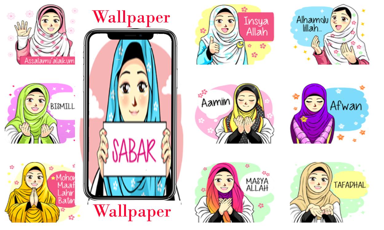 Wallpaper Anime Hijab Keren