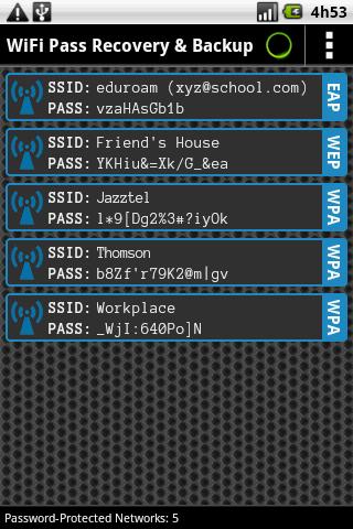 WiFi Pass Recovery ScreenShots