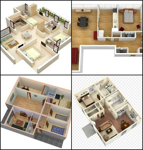 Small House Plan small house with nice laundry room 1550 sq ft three br two 3d Small House Plans Idea 10 Screenshot 11