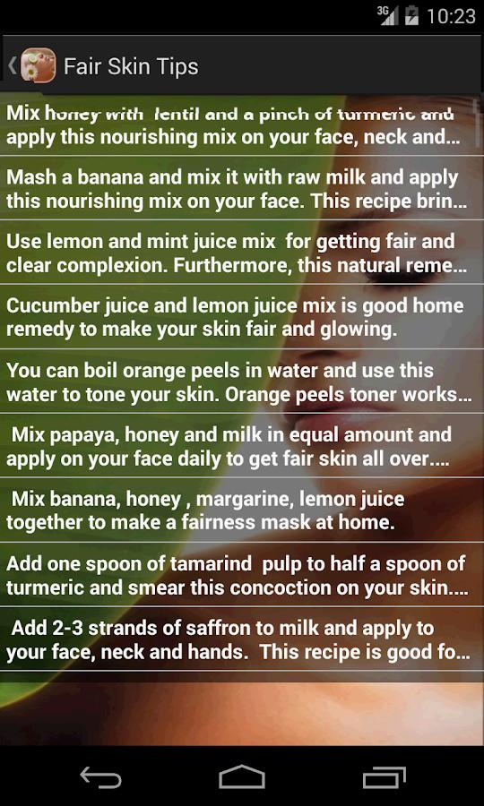 Beauty Tips For Fair Skin 123 Screenshot 2