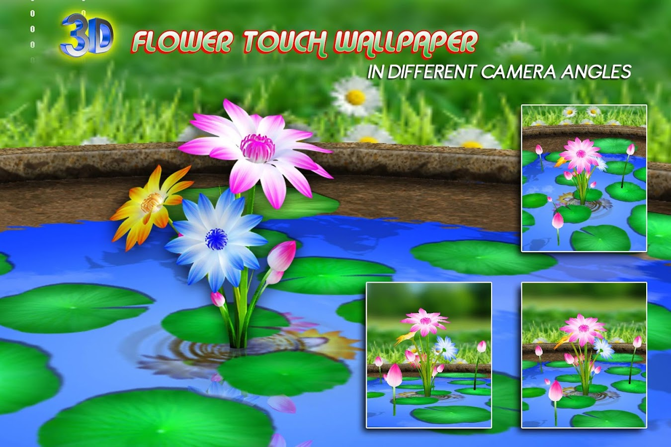 Wallpaper downloader app -  3d Flowers Touch Wallpaper 3 2 Screenshot 9