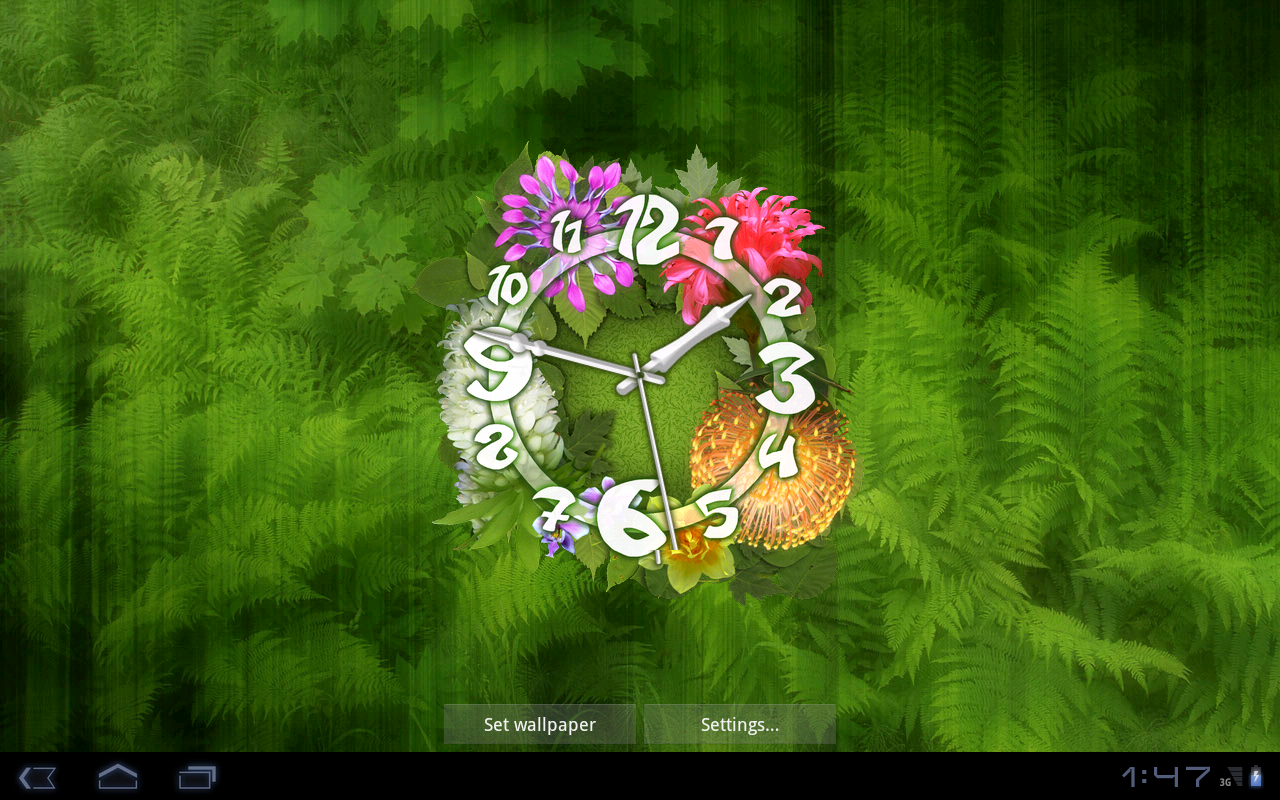 Wallpaper downloader app -  Flower Clock Live Wallpaper 4 6 5mr Screenshot 11