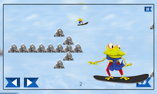 Super Froggy Ski : Snow Fun + 1.0 screenshot 2