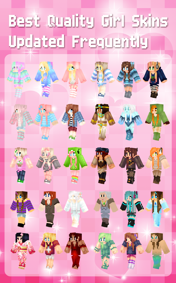 Girl skins for minecraft pe 4 9 apk download android - Cool girl skins for minecraft pe ...