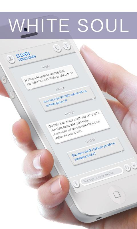 GO SMS PRO WHITESOUL THEME 1 0 APK Download - Android