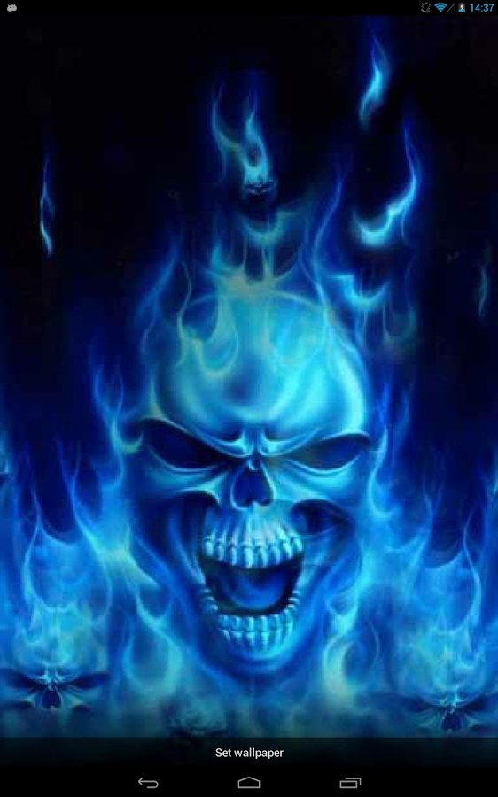 Skulls in a Blue Flame Live WP 2.1 APK Download - Android ...