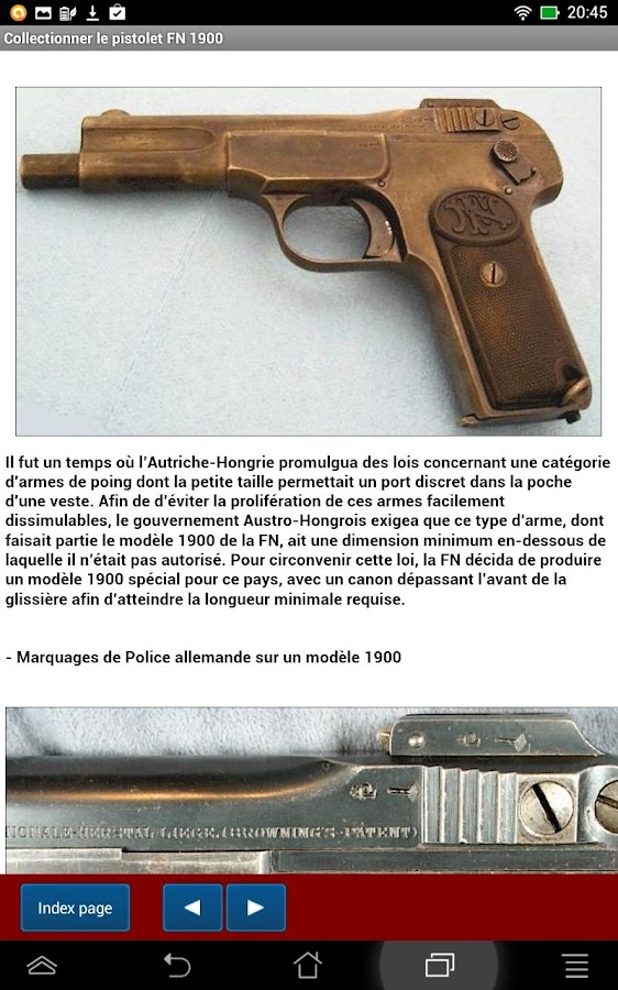 Pistolet fn 1900 expliqu android apk download android books reference apps - Pistolet a clou ...