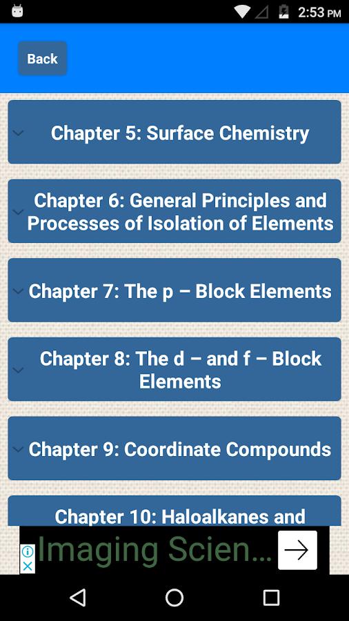 دانلود Class 12 Chemistry NCERT Solutions 0 2 APK - برنامه