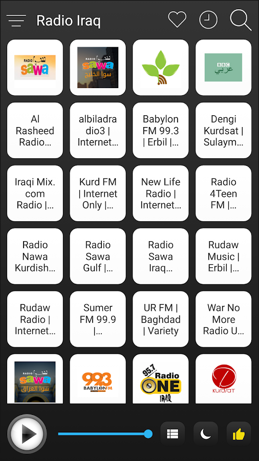 8aa5d4b34 Iraq Radio Stations Online - Iraq FM AM Music 2.1.0 screenshot 1 ...