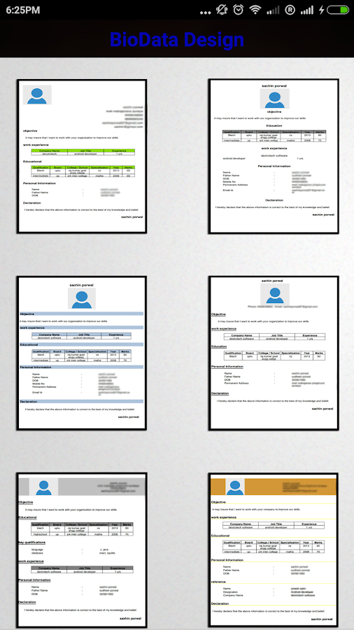 private job resume maker pro 10 screenshot 11
