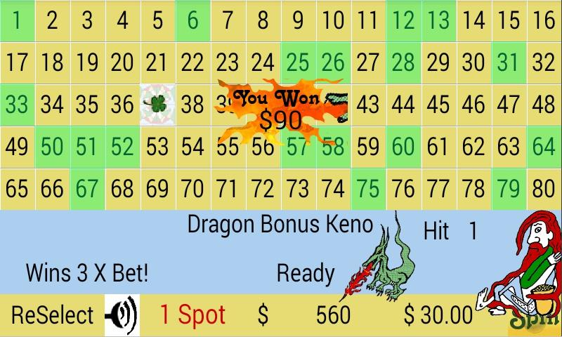 Dragon Bonus Keno 1 7 APK Download - Android Card ألعاب