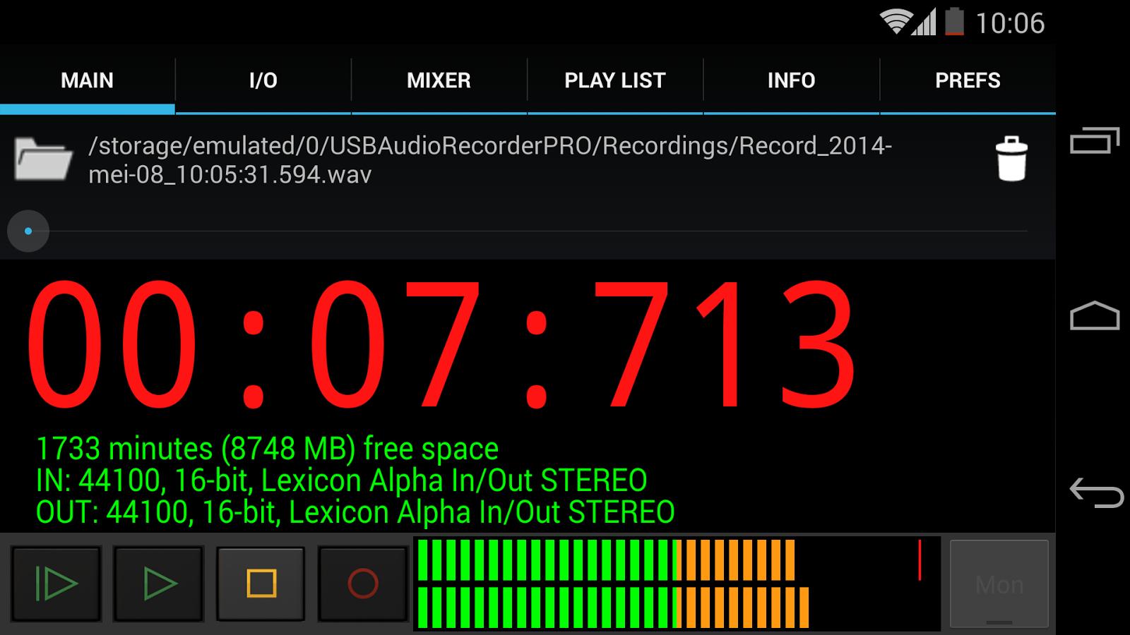 usb audio recorder pro 1 4 3 screenshot 2