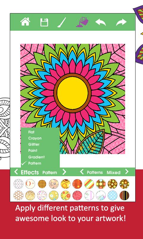 Adult Coloring BookGarden Screenshot 3