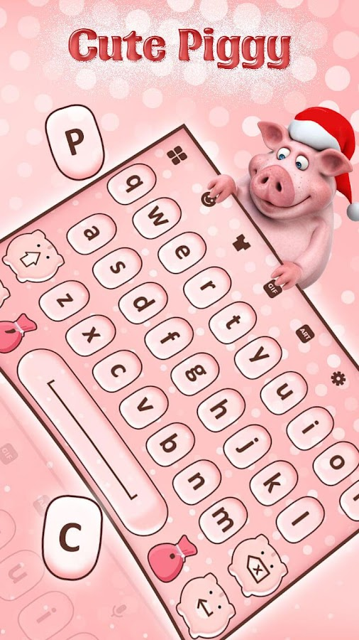 Cute Piggy Keyboard Theme 12 Apk Download Android