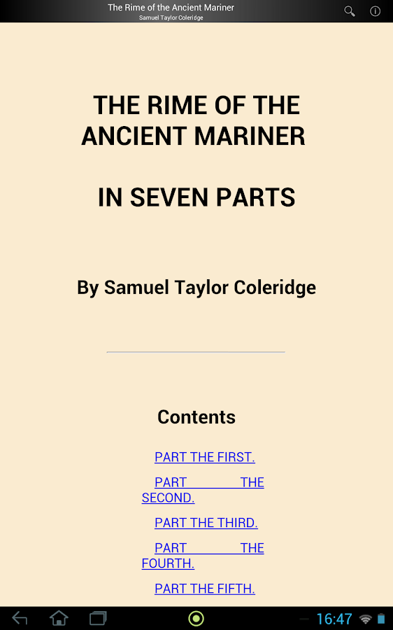 summary rime of the ancient mariner 37 quotes from the rime of the ancient mariner: 'water, water, everywhere,and all the boards did shrinkwater, water, everywhere,nor any drop to drink'.