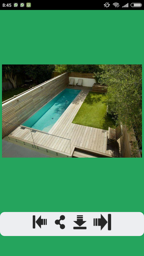 Swimming pool design 2 0 apk download android books for Swimming pool design app