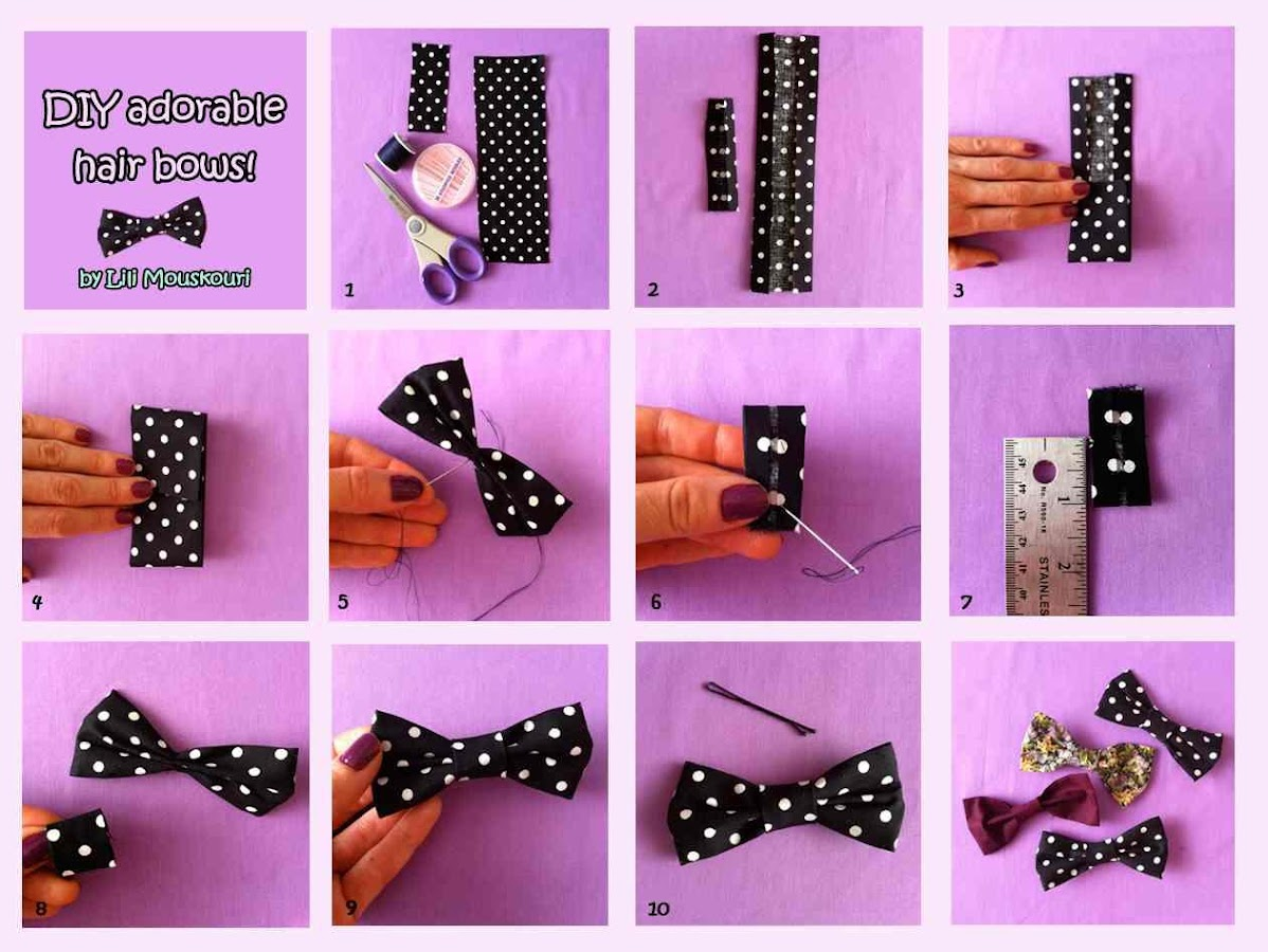 Diy hair bow tutorial 10 apk download android lifestyle apps diy hair bow tutorial 10 screenshot 4 urmus Choice Image