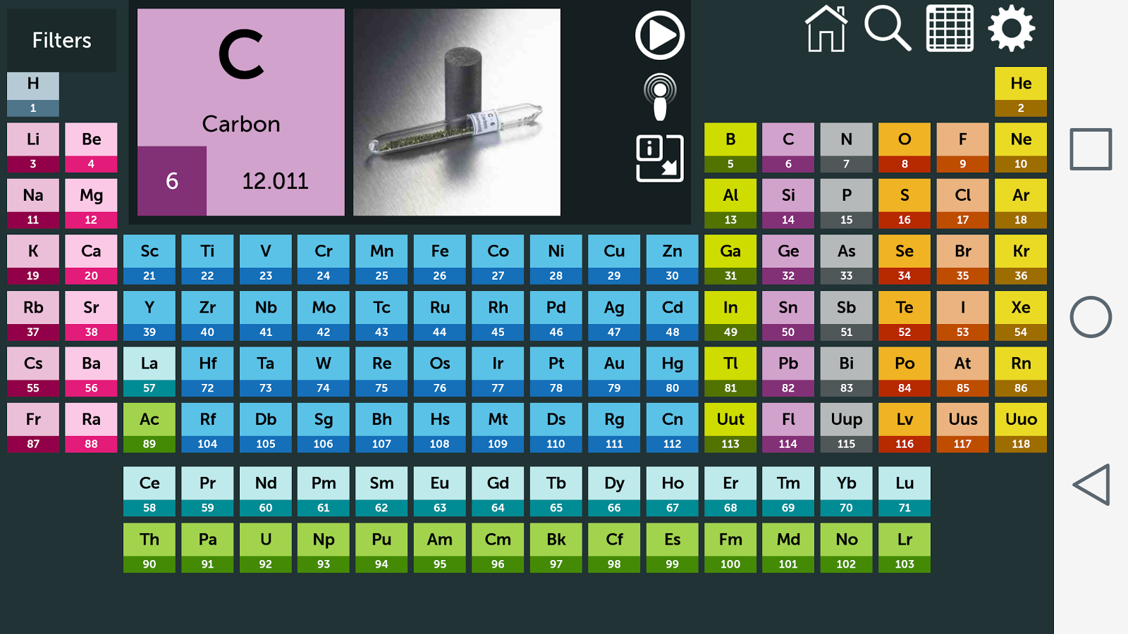 Periodic table 140 apk download android education apps periodic table 140 screenshot 1 gamestrikefo Gallery