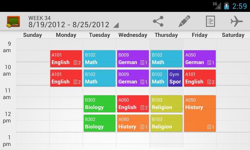 class schedule maker - Template