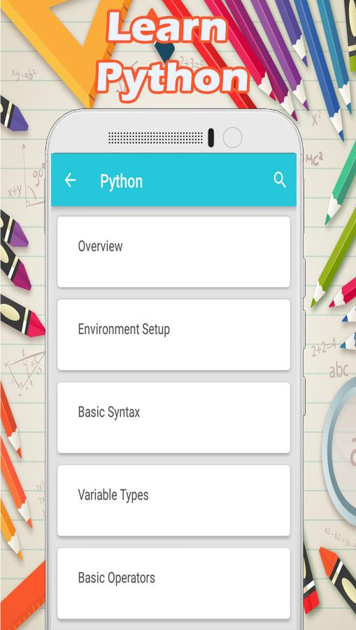 Learn Python 1 APK Download - Android Books & Reference ئاپەکان