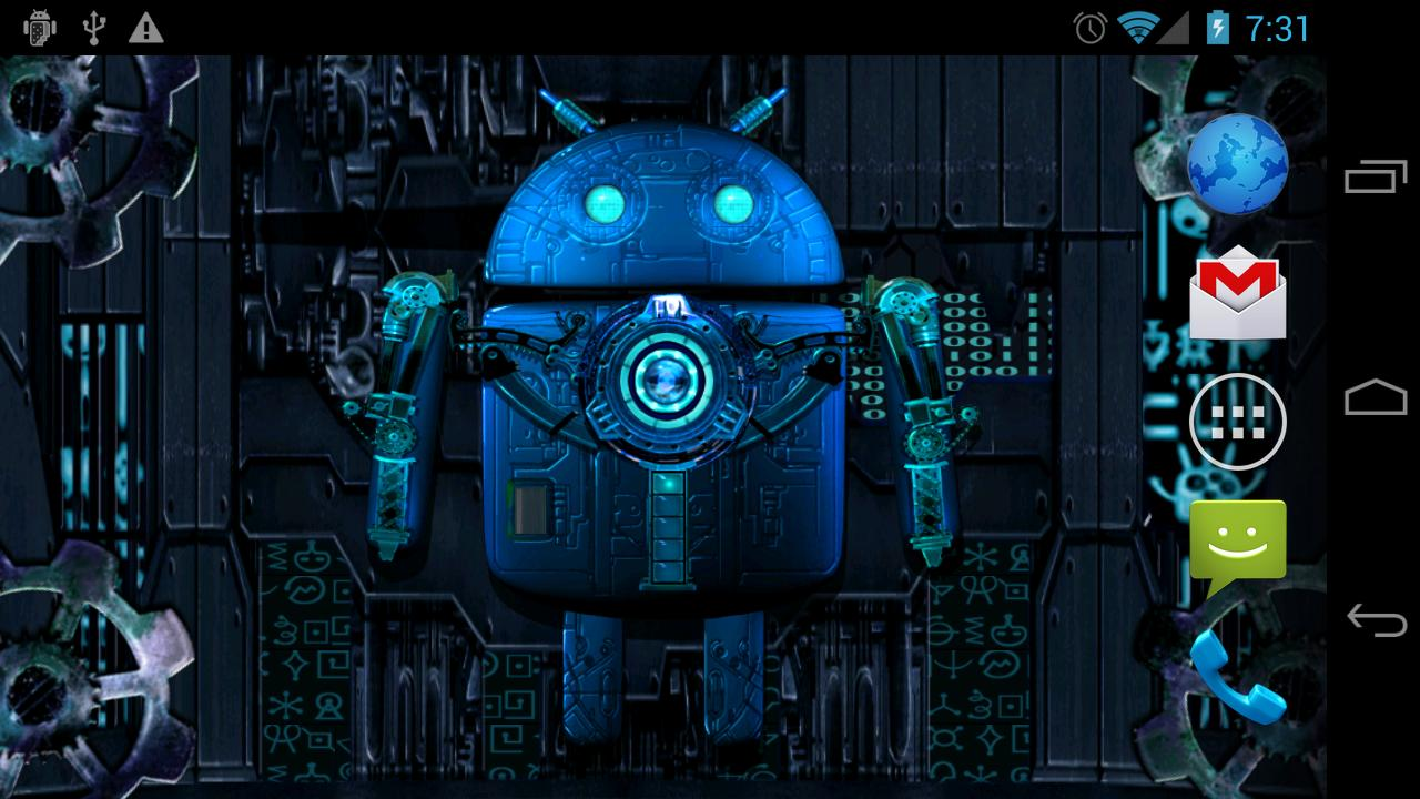 steampunk droid live wallpaper 1.2.4 apk download - android