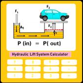 Pascal's Principle Hydraulic Lift SystemCalculator 1.0