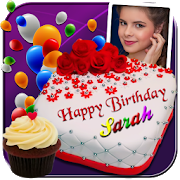 Photo On Birthday Cake - Cake with name and photo 4.4