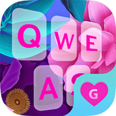 Color Flower Keyboard Theme for Girls 1.0