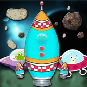 Rocket Shooter In Galaxy-Space