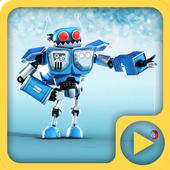 Funny Robot Blue 3D Live WP 1.0