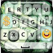 Money Rain Emoji Keyboard 1.0