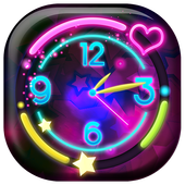 Neon Clock Live Wallpaper 1.0k