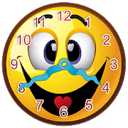 Smiley Face Clock Widget 2.2