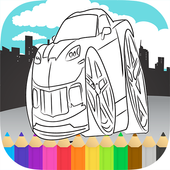 Sports Cars Racing Coloring 1.0