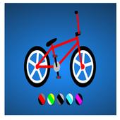 Coloring book: Bike 3D 1