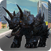 Futuristic Robot Dino Battle 2.0