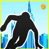 Vector crazy Agent Street Jump 1.0
