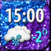 Glitter Weather Clock Widget 5.0