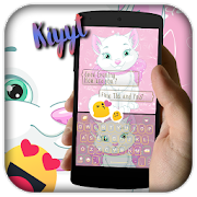 Lovely Cute Pink Cat keyboard Theme 1.0