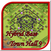 Town Hall 9 Hybrid Base Layouts 1.0