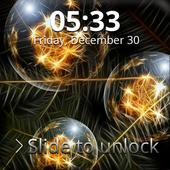 Christmas Balls Screen Lock 1.0