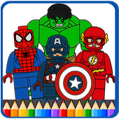 LEGO Superheros Coloring Game : Kids Coloring 6.0