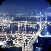 Cities at night. Hong-Kong 1.0