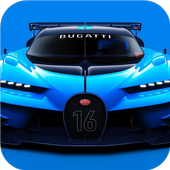 Blue concept car. LW of legend 1.0