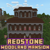 Redstone Woodland Mansion Map for MCPE 2.0