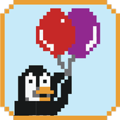 Pixel Penguin Balloon Edition