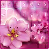 Pink Flower Blossom Keyboard 2.0