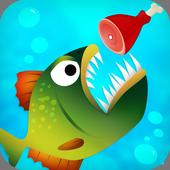 piranha eating game