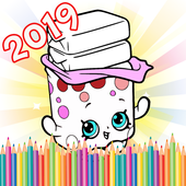 Coloring Page Shopkins Finger Paint and Draw 1.0