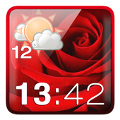 Rose Clock Weather Widget 1.7